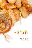 Bread, loaf, baguette, bagel, wheat Royalty Free Stock Photo