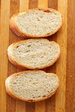 Bread. Loaf of bread on a board grooved Royalty Free Stock Photo