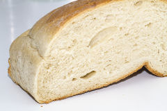 Bread loaf. Cut loaf of bread loaf Royalty Free Stock Photo