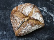 Bread loaf food photography recipe idea royalty free stock photography