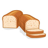 Bread loaf. Illustration on white background Royalty Free Stock Image