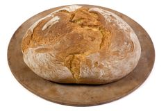 Bread loaf isolated. An isolated shot of a fresh loaf of italian bread Royalty Free Stock Images