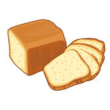 Bread loaf Isolated illustration. On white background Royalty Free Stock Photos