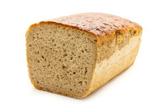 Bread. Loaf of bread isolated on white background Stock Photos