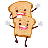 Bread Loaf Mascot. Vector Illustration of Bread Loaf Mascot Stock Image