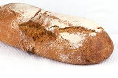 Bread loaf on a napkin Stock Image