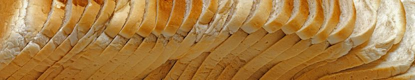 Bread loaf panorama royalty free stock image