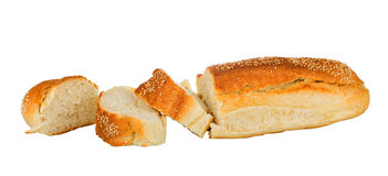 Bread loaf with sesame isolated Stock Photo