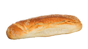 Bread loaf with sesame isolated Stock Image