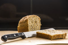 Bread loaf and slice Stock Image