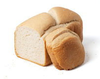 Bread loaf with slices isolated on white Royalty Free Stock Image