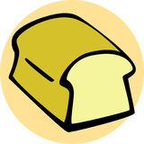 Bread loaf vector illustration Stock Photos