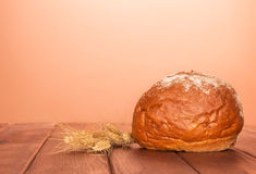 Bread loaf and wheat Royalty Free Stock Photos