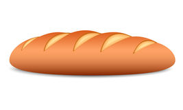 Bread. Loaf of bread on a white background. Vector illustration stock illustration