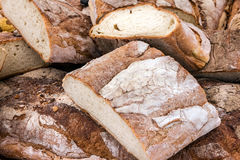 Bread loaf, white, homemade, food background Stock Photo