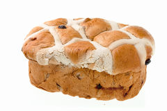 Bread Loaf On White Stock Photos