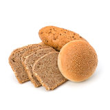 Bread loafs and buns variety Royalty Free Stock Image