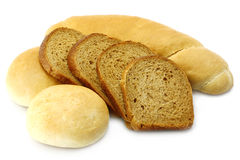 Bread and loafs close-up Stock Photography