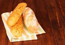 Bread loaves on napkin Royalty Free Stock Photo