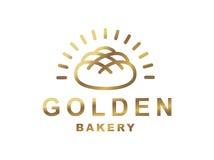 Bread logo - vector illustration. Bakery emblem on white background Stock Photos
