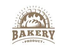 Bread logo - vector illustration. Bakery emblem on white background. Bread logo - vector illustration. Bakery emblem design on white background stock illustration