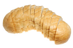 Bread long loaf It is isolated on a white background Royalty Free Stock Photos