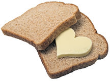 Bread Loves Butter Royalty Free Stock Photography