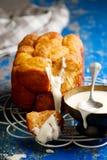 Bread machine pumpkin monkey bread. Royalty Free Stock Photos