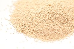 Bread Machine Yeast. Isotated on White Background Stock Image
