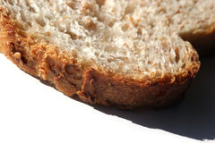 Bread macro. Extreme close-up of a slice of whole bread Stock Photography