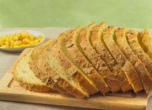Bread made from corn. Whole grains are in a bowl Stock Photography