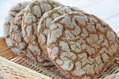 Bread made of rye. In a local food market stall Stock Photography