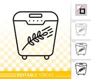 Bread Maker simple black line vector icon vector illustration