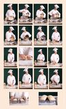Bread Making Chart Stock Image