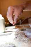 Bread Making Detail Royalty Free Stock Photo