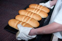 Bread making factory Stock Image