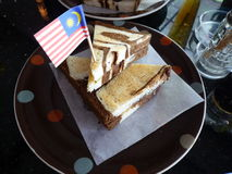 Bread with Malaysian flag Stock Photography