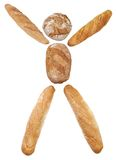 Bread man concept Stock Photography