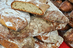 Bread on the market in Salignac Stock Images
