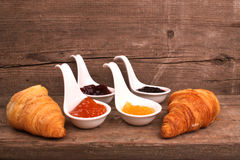 Bread and marmalade Stock Photography