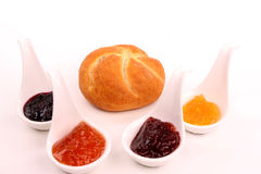 Bread and marmalade Royalty Free Stock Image