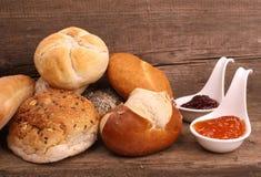 Bread and marmalade Stock Photo