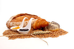 Bread and marmalade Stock Image