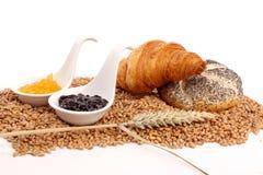 Bread and marmalade Stock Photos