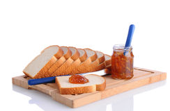Bread and Marmalade Stock Photo