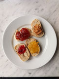 Bread and marmelade Royalty Free Stock Images