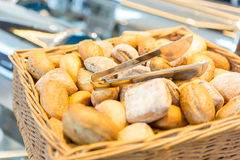 Bread in a masket Stock Photos