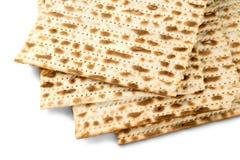Matza bread isolated on white. Bread matza yellow background nobody isolated celebration Royalty Free Stock Photos