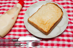 Bread with mayo Stock Photography