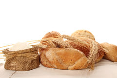 Bread and meal Stock Image